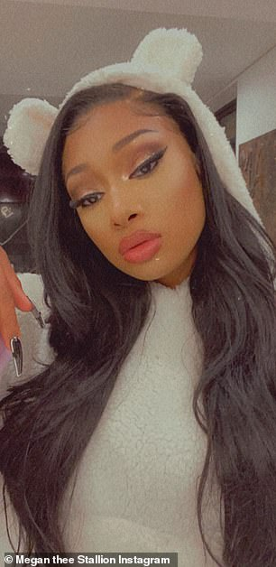 Working it: The rapper and singer dropped a few sultry looks