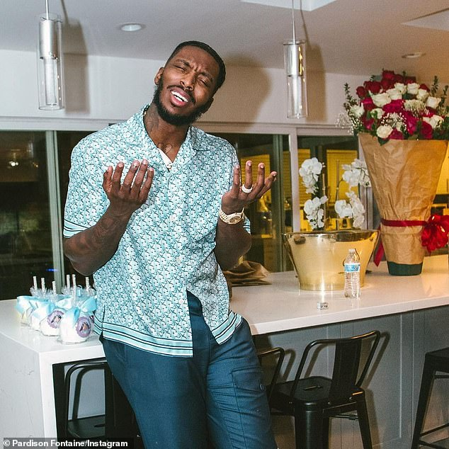 Fontaine, who's best known for his 2018 song Backin It Up featuring Cardi B, showed Megan with plenty of gifts and attention for Valentine's Day on the 14th and her birthday on the 15th