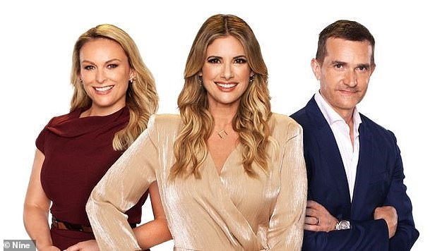 They are back!  Fans of Married at First Sight are used to seeing the show's relationship experts Mel Schilling, Alessandra Rampolla and John Aiken (pictured LR) perfectly polished on screen
