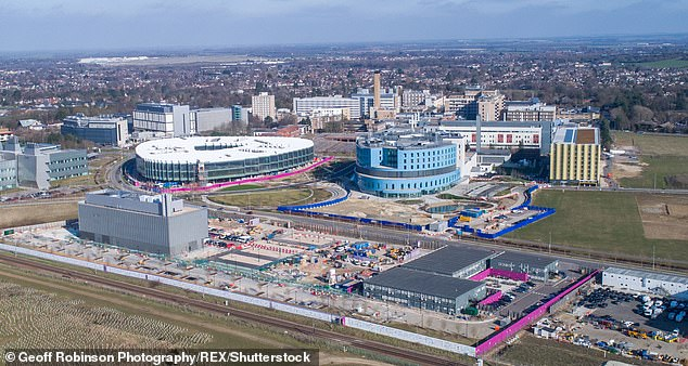 Doctors from the Royal Papworth Hospital (pictured: The Cambridge Biomedical Campus which includes Addenbrooke's Hospital and the Royal Papworth Hospital) in Cambridgeshire used a groundbreaking new machine to make the heart starting beating again