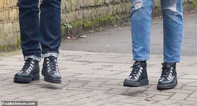 It's a match! It seems Ant and Anne-Marie - who got engaged at Christmas - share a common interest in foot fashion