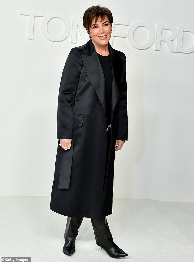 Going for variety: The media outlet also reported that Jenner was looking to place her name on a wide variety of products, including fragrances and nail care offerings; she is seen at the Tom Ford AW20 Show in 2020