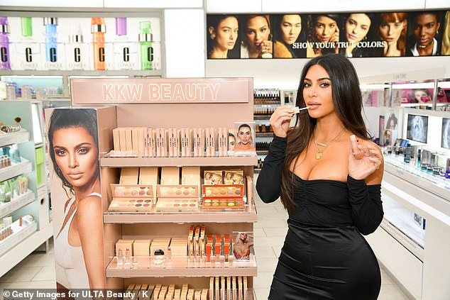 Making it on her own: In 2017, Jenner's daughter Kim founded her own cosmetics company, entitled KKW Beauty; the reality television icon is pictured in 2019