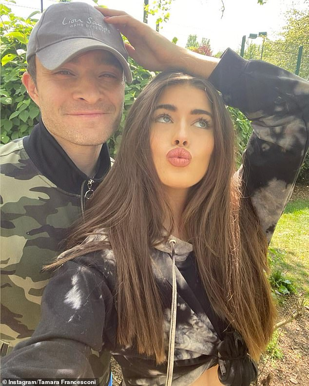 Loved-up:Tamara recently travelled to her native South Africa with actor Ed, 33, just months after they celebrated their one-year anniversary