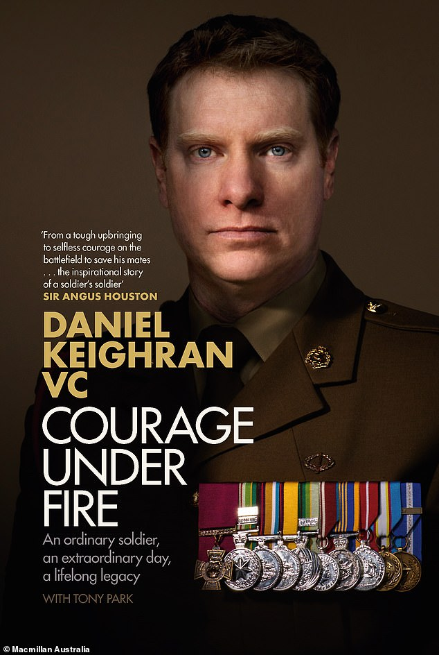 Mr Keighran released his book 'Courage Under Fire' in 2020 where he detailed the highs and lows of a military career and the toll it took on his personal life