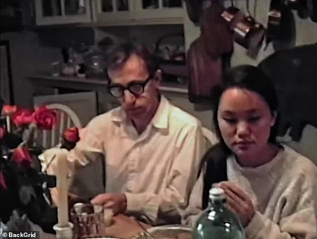 Farrow recalls her shock at discovering 'pornographic' photos of her adopted daughter, Soon-Yi Previn (seen right) taken by her then-husband, Woody Allen (left). Farrow found the photos in Allen's New York City apartment in January 1992, according to the documentary