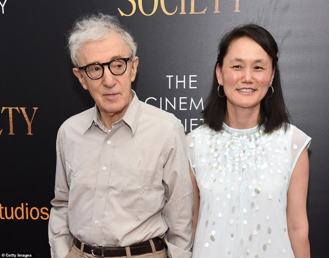 Allen declined to be interviewed for the docuseries about his split with Mia, though excerpts from his 2020 memoir are cited as a contrast to the allegations. He is seen left with wife Soon-Yi Previn in July 2016