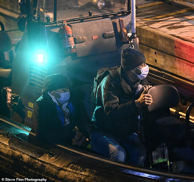 In early 2020, there were 630 migrants who attempted the crossing to Britain from France. Pictured: Migrants arriving into Dover last night