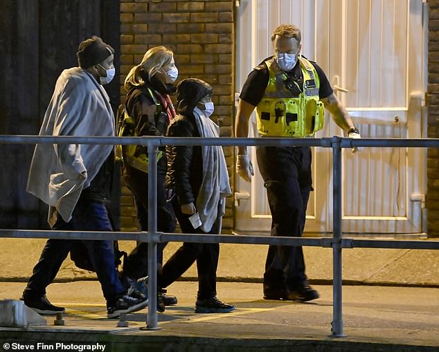 They were then reportedly handed over to UK Border Force half way across the Channel