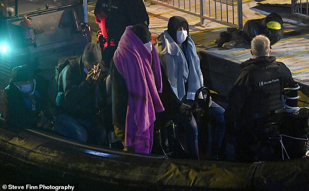 Some were seen arriving in Britain with towels wrapped around them and wearing masks