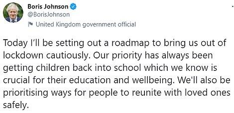 Boris Johnson said he will be 'cautious'