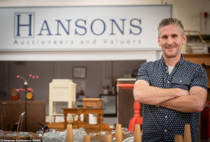 Pictured, Hansons valuer Adam Staples.The delightful ring will be sold at Hansons Auctioneers, which is in Etwall, Derbyshire