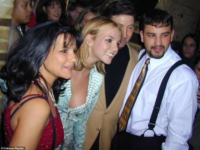 Britney poses with her mother Lynne, father Jamie and brother Bryan at the 1999 party. 'When it came to her family, Britney's mom Lynne was clearly very caring, you could just see that in her eyes and the way she looked at her daughter,' the source said