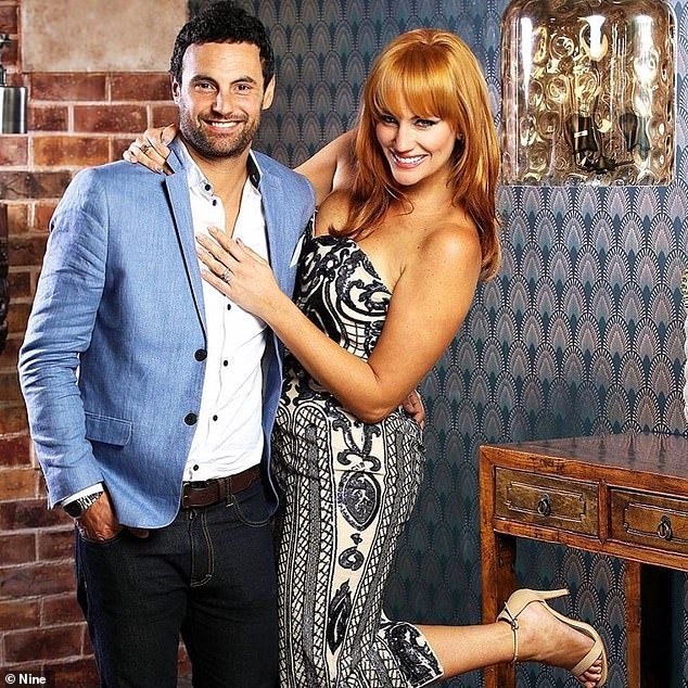 Outrageous: MAFS Australia's Jess has shared a wild theory that fellow star Jules and Cam (pictured), were together BEFORE the show as she claims bosses needed a success story