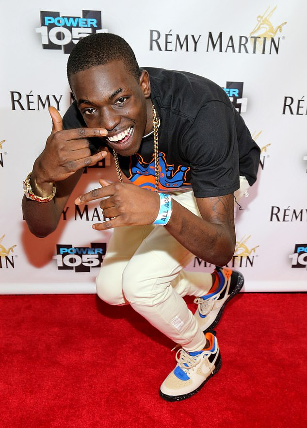 Rising star: The rapper burst onto the hip-hop scene with his hit single called Hot Boy in the edited version, which then reached number six on the Billboard Hot 100 in 2014