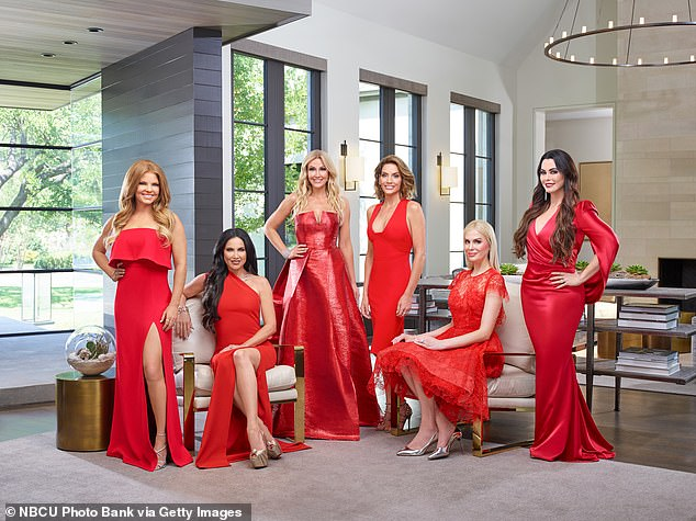 The cast: Pictured: (l-r) Redmond, LeeAnne Locken, Stephanie Hollman, Cary Deuber, Kameron Westcott, D'Andra Simmons