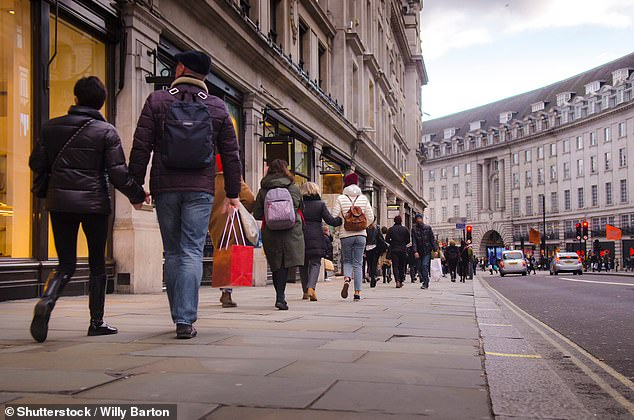 Retail bosses welcomed the April 12 announcement, but urged Chancellor Rishi Sunak to 'relieve struggling businesses of bills'. Pictured:Regent's Street, London (stock)