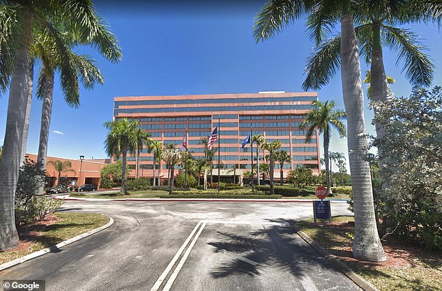 The Hilton hotel near the airport in West Palm Beach, where the event was held on Friday