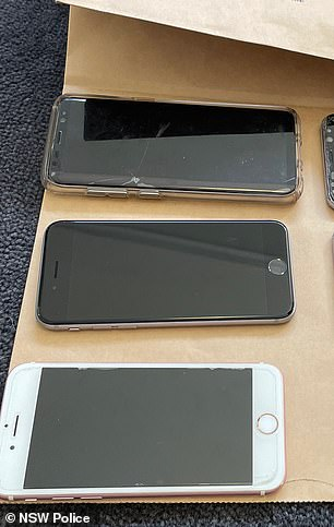Cocaine and mobile phones were found during a further search of a home at Wentworth Point