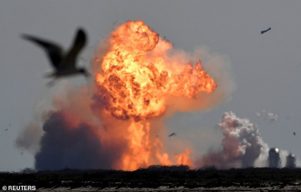 The FAA investigation into the exploded SN9 (pictured) focused on ensuring operations are safe, finding that the explosion did not endanger the public and that the debris was contained in designated danger areas.