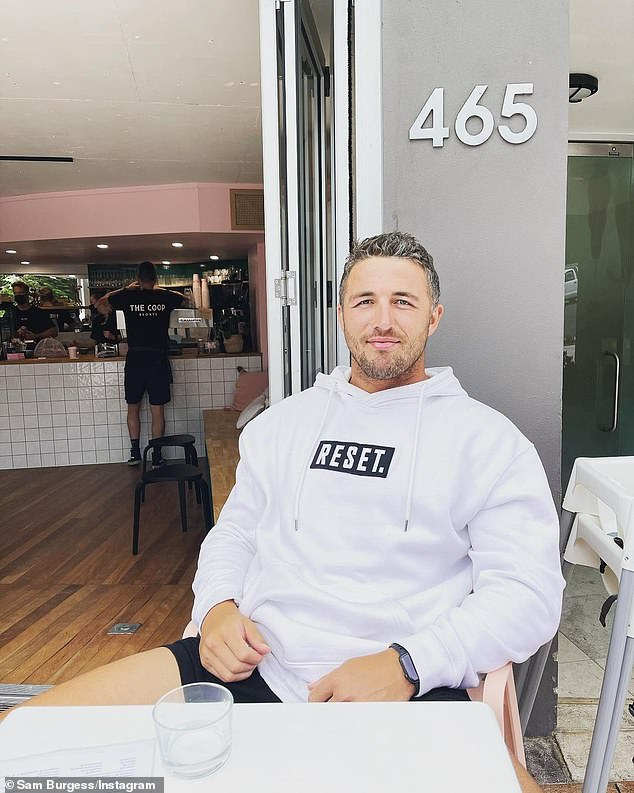 Burgess (pictured) was trolled in his most recent Instagram post promoting his clothing brand