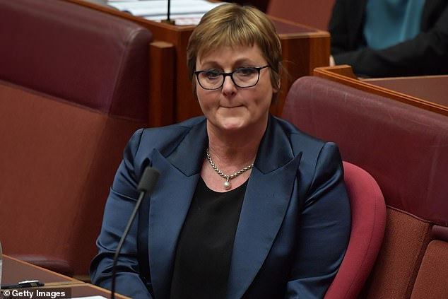 Minister for Defence Linda Reynolds is seen during Question Time in the Senate chamber at Parliament House in Canberra last week, after Ms Higgins' allegations were made public