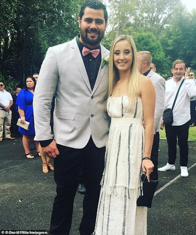 The NRL will investigate the Gold Coast Titans over a possible salary cap breach after player David Fafita (pictured with his ex-wife Jade Robinson) was arrested late last year
