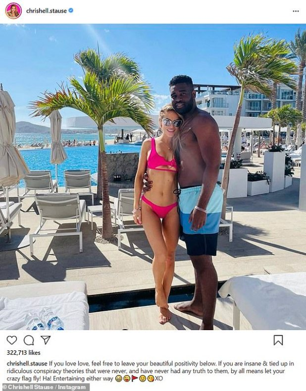 On vacation: Things seem to be going well, as the couple just returned from a getaway to Mexico in late December;  Chrishell and Keo photographed in December 2020