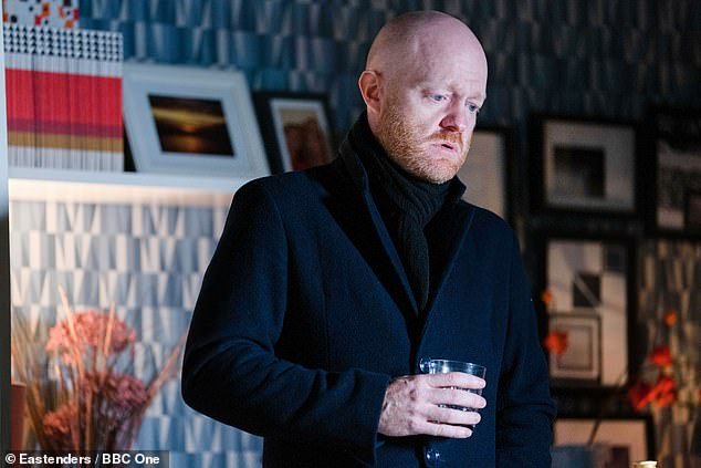 Look: The actor told Piers Morgan and Susanna Reid that he was never able to have more than just stubble because he had to maintain continuity for his character Max Branning (pictured)
