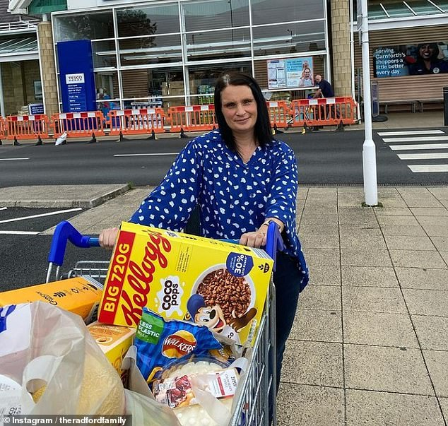 Viewers were shocked after mother-of-22 Sue Radford, 45, from Morecambr, Lancashire, revealed she spent £400 on weekly food shopping for her brood on 22 Kids and Counting on Channel 5