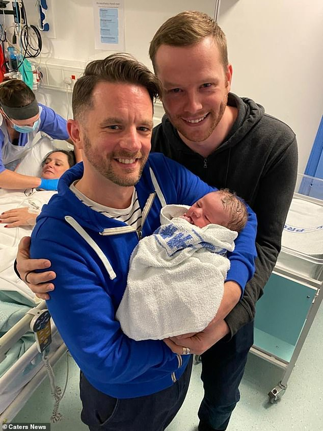 Anthony (pictured with his partner Ray) says his bond with his sister is stronger than ever before after she gave him the greatest gift of life