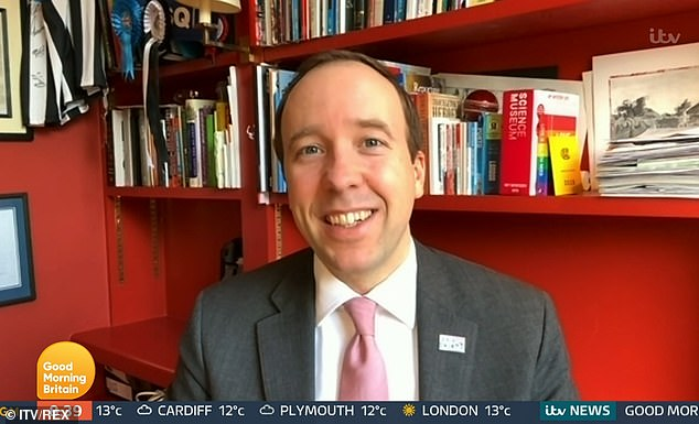 Asked about the contract on BBC Radio 4's Today programme this morning Mr Hancock said he 'didn't have anything to do with that contract', despite claims by Mr Bourne that it came about after exchanging a personal WhatsApp message with the Health Secretary .