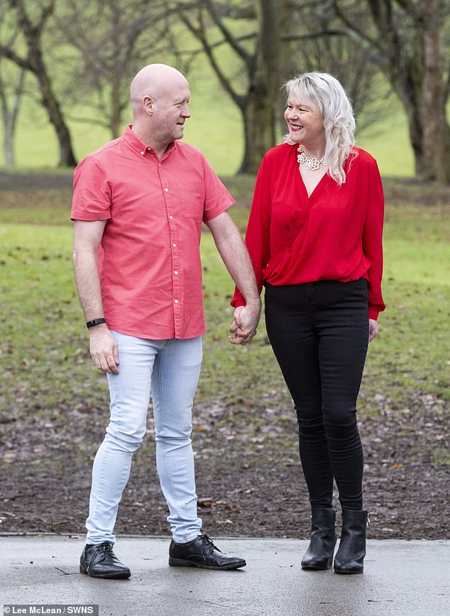 Paul revealed they're waiting to fly to Spain to enjoy their new home and new figure. Pictured: Paul and Lisa, now