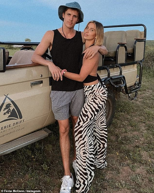New couple:Ferne McCann says living with her new boyfriend Jack Padgett during lockdown is a 'learning' process