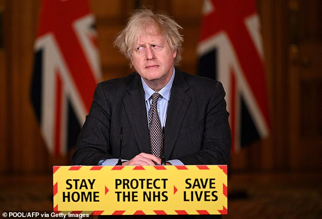 Lockdown end: Prime Minister Boris Johnson yesterday unveiled his 'cautious' lockdown exit strategy which could see life in England return to something near normal by June