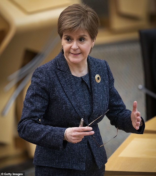 He accuses Scottish prosecutors of withholding evidence proving Miss Sturgeon's aides conspired with civil servants to press ahead with taking the allegations against Mr Salmond to court despite legal advice he would be cleared