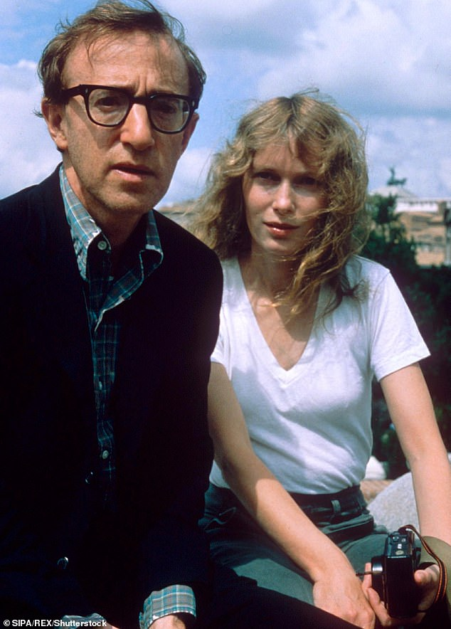Allen has long claimed that his ex Mia Farrow (pictured together in 1983) fabricated the claim against him and planted them in Dylan's mind after learning that he was having an affair with the actress's then-22-year-old adopted daughter Soon-Yi Previn