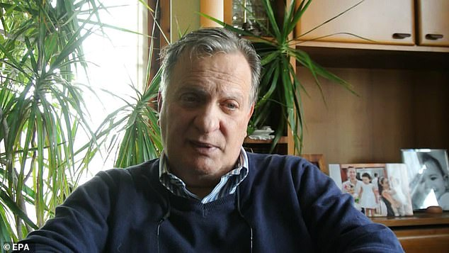 Pictured:Salvatore Attanasio, the father of the slain Italian Ambassador Luca Attanasio, during an interview in Rome, Italy, 23 February 2021