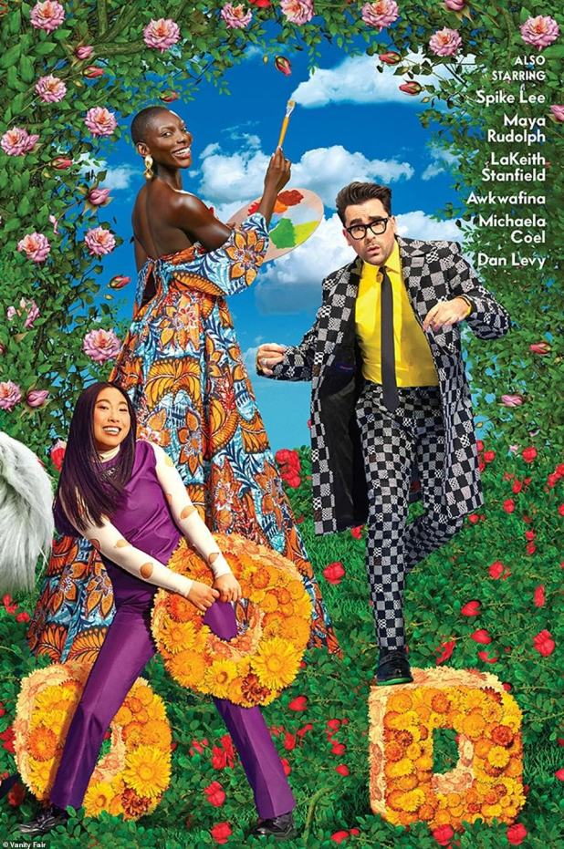 The third: And on the last panel were Michaela Coel, Awkwafina and Dan Levy