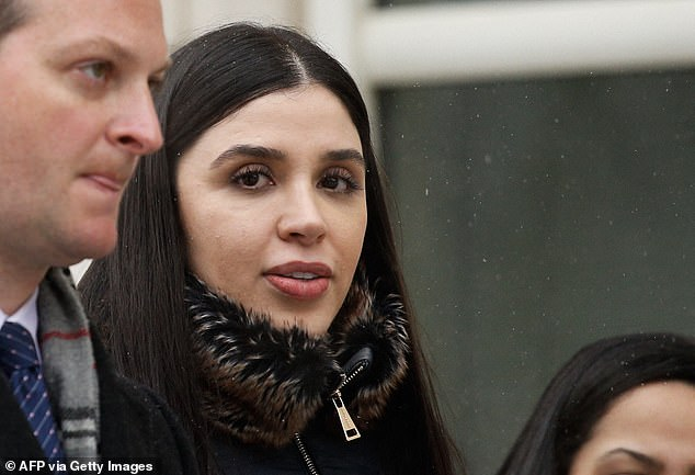 Emma Coronel leaves from the U.S. Federal Courthouse in Brooklyn, New York, after a verdict was announced at the trial for her husband, Joaquín 'El Chapo' Guzmán, on February 12, 2019