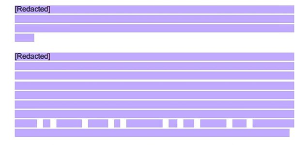 After: The Scottish Parliament redacted the most damning parts of Mr Salmond's bombshell evidence against Ms Sturgeon