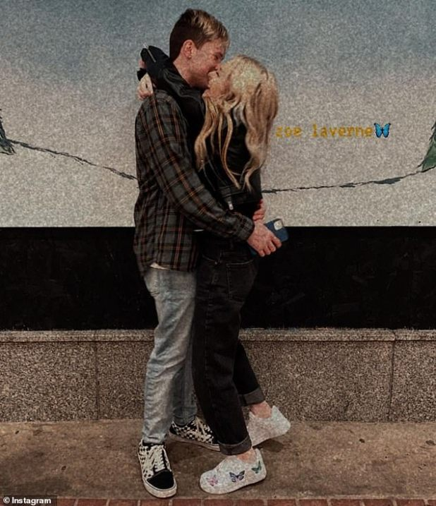 Public Couple: Dawson and Zoe have fully showcased their romance on their respective social media accounts, regularly posting sweet PDA-filled moments like this image from December.