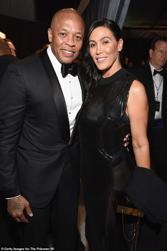 The way they were:Dr Dre appeared to slam his estranged wife Nicole Young in a snippet from his new track that went public Monday night; seen in 2018