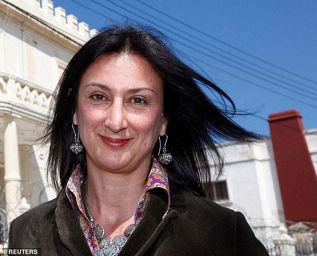 The murder of Daphne Caruana Galizia (pictured), who exposed cronyism and sleaze within Malta's political and business elite, sparked international outrage