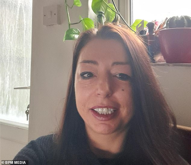 Abby Read, pictured, from Totnes, Devon developed Covid-19 last March, but instead of suffering any of the common symptoms such as a cough, fever or fatigue, she lost large clumps of hair