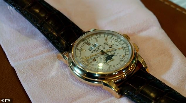 Fran was left gobsmacked after being given £155,000 by a pawnbroker for a pair of diamond earrings and a Patek Philippe watch (pictured), which she thought were worth just £17,000