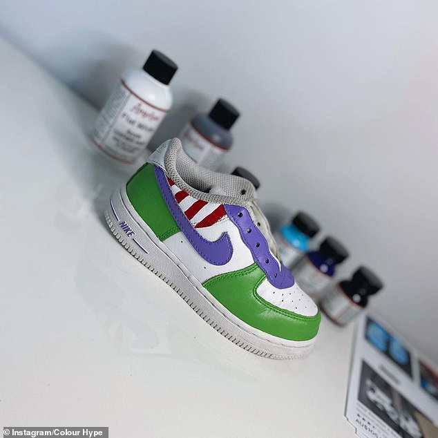 The custom painted sneakers are hand crafted and for the 'big kids' out there are available in children's sizes all the way up to a men's size 12