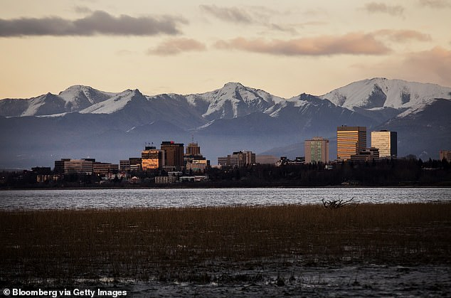 In Anchorage (pictured), Alaska's largest city, warmer temperatures and drier conditions in recent summers have lengthened the fire season across the entire state. And last year, over half of the fires in Alaska were started by lightning