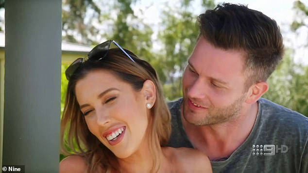 Coming up: In a new trailer for MAFS, 'bride from hell' Rebecca 'Beck' Zemek (pictured) awkwardly rejects Jake Edwards' kiss and a Kmart-obsessed bride asks her husband 'are you a w***er?'