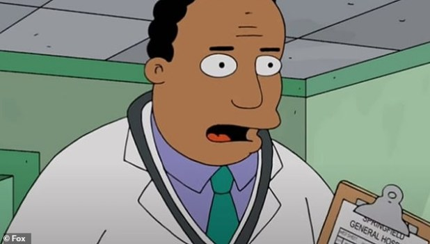 Cast change: It was announced on Tuesday that the character of Dr. Hibbert, voiced by white actor Harry Shearer, was replaced by black actor Kevin Michael Richardson.